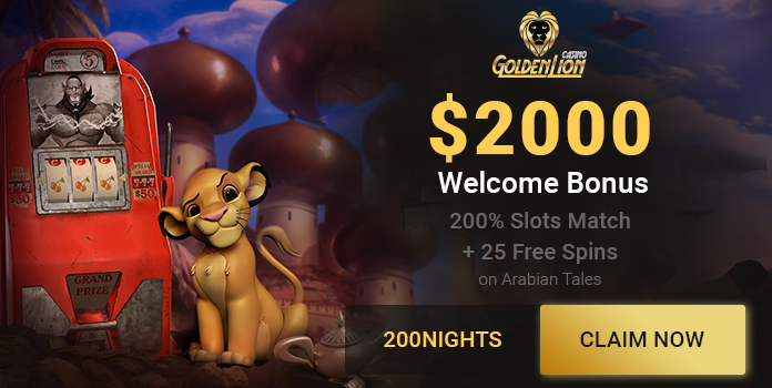 Casino Golden Lion Bonus Banner