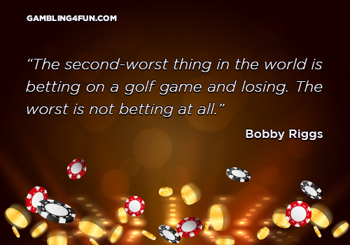 betting on a golf game and losing