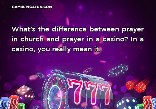 gambling jokes - church
