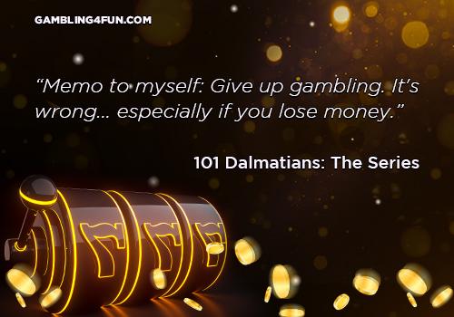 Give up gambling