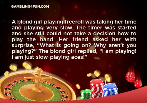 Blondie plays poker jokes