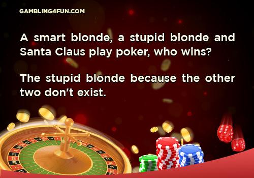 poker jokes - smart blond