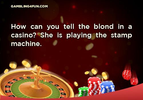 blond in casino