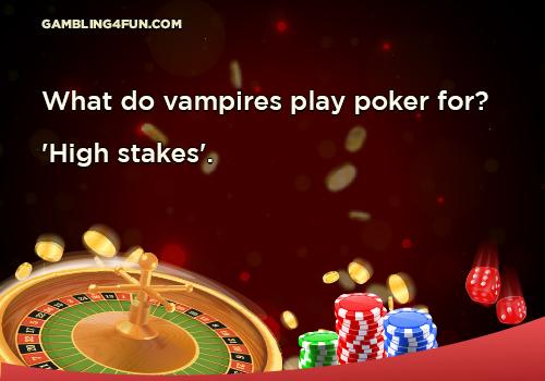 vampire play poker joke