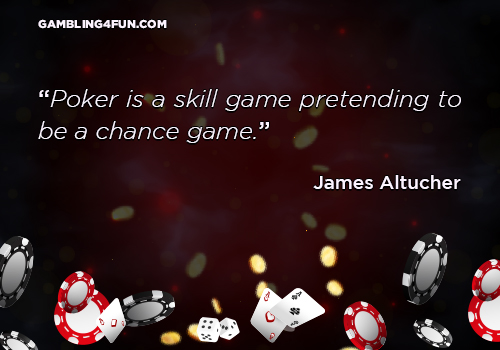 Poker is a skill game