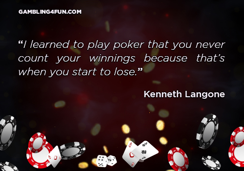 I learned to play poker