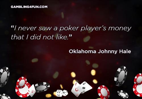 a poker player's money