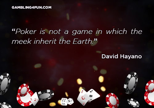 Poker is not a game